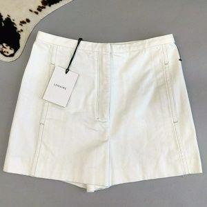 Lemaire size 42 flat front denim shorts
